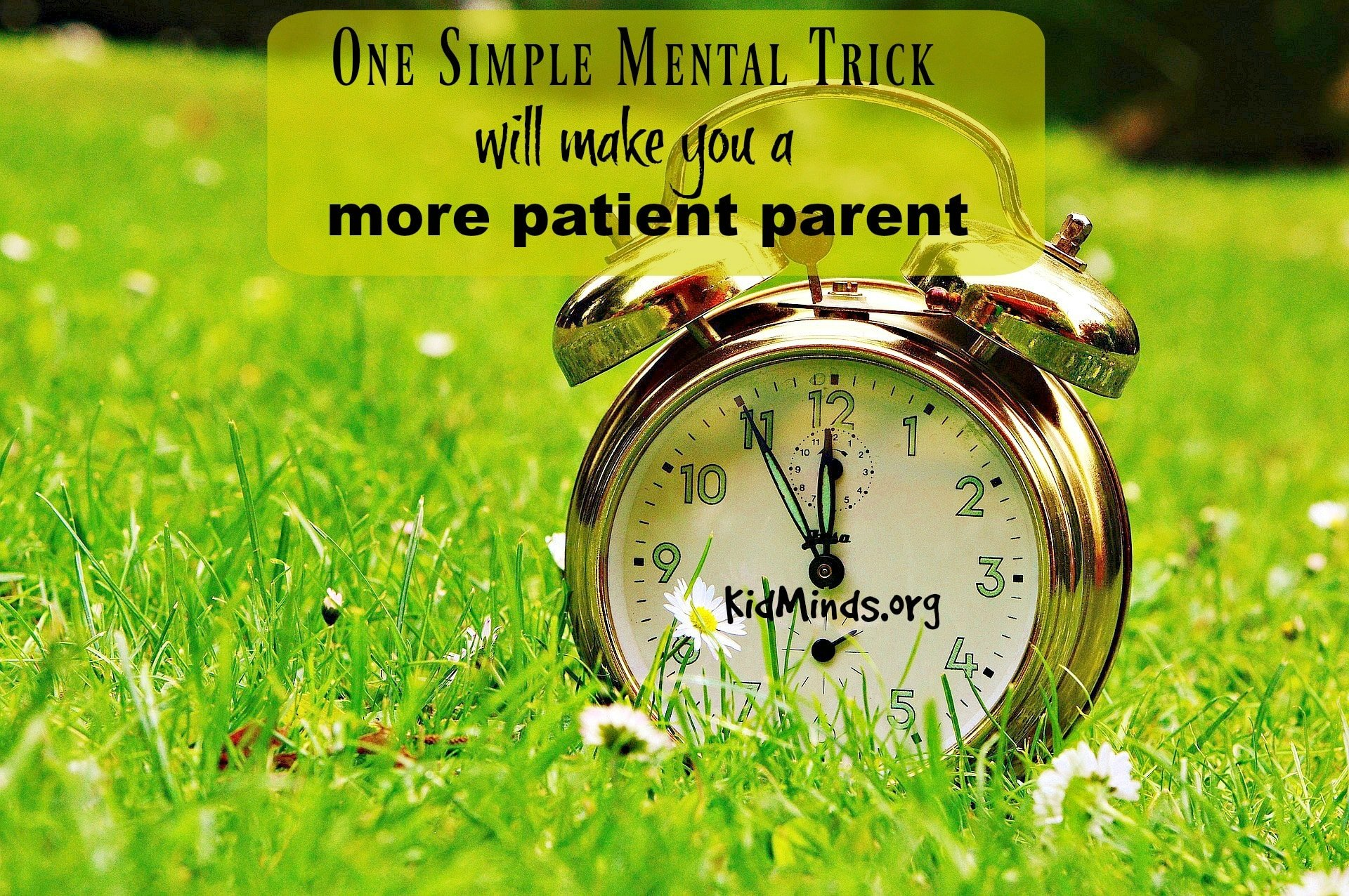 How to be a more Patient Parent - the one simple trick you need in your life