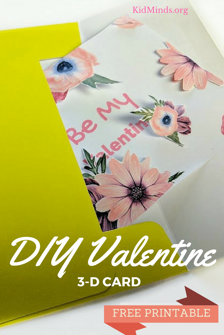 DIY Valentine's Day 3-D Card (Printable)