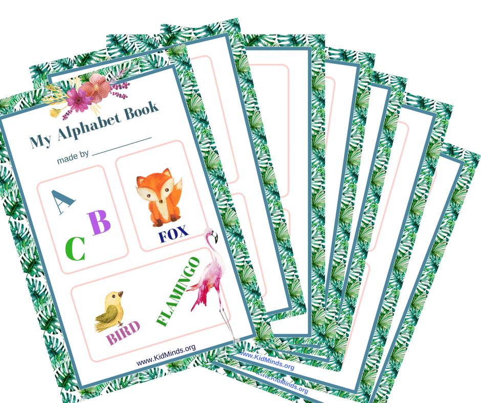 My Alphabet Book is a creative way to learn the alphabet with little kids. #preschool #alphabet