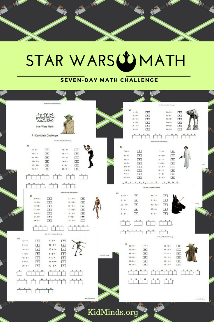 Make school a fun part of every day with Star Wars Math! Kids can practice addition and subtraction while deciphering a mystery message from Star Wars #Starwars #math