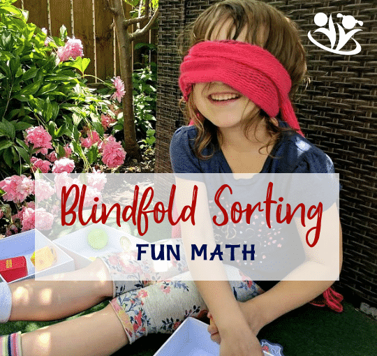 Blindfold Sorting gives your child an opportunity to manipulate the information using different senses. #Math games make #learning fun.