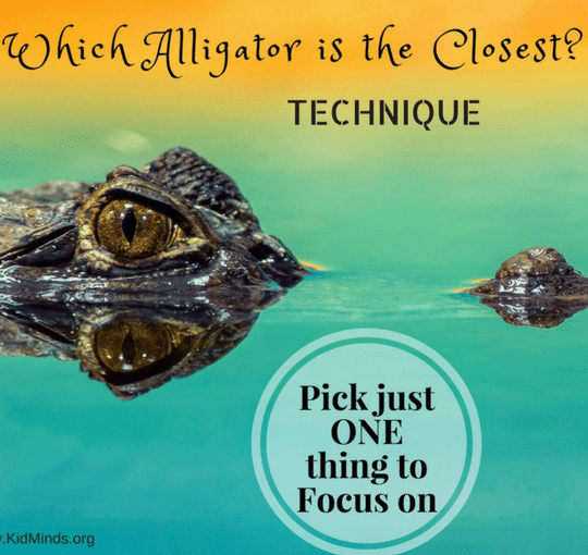Which Alligator is the Closest (a Technique for Busy Moms)