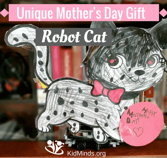 Unique Mother's Day Gift ROBOT CAT #scienceforkids #robots #homeschooling #KBNmoms