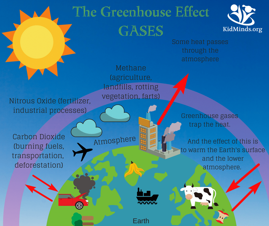 how to explain the greenhouse effect to kids (with ... green gas diagram greenhouse gas diagram #5