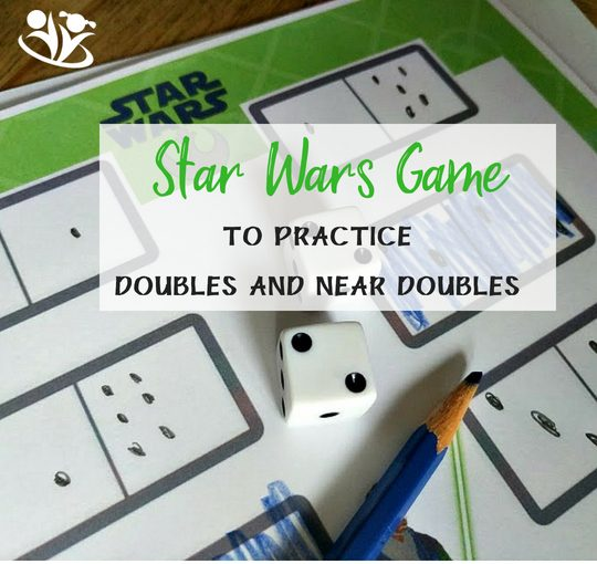 Star Wars Game to practice doubles and near doubles photo # math #Starwars #LEGO #dicegames