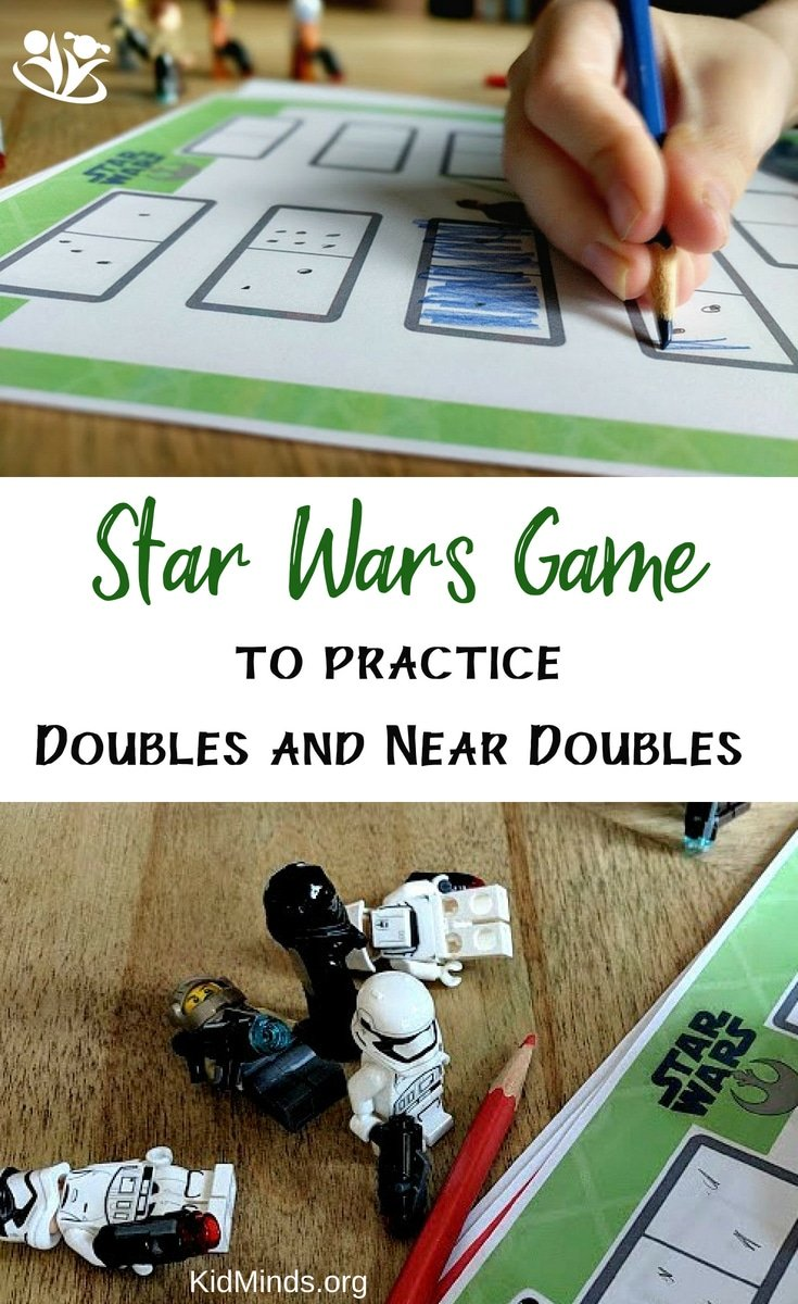 Star Wars Game to practice doubles and near doubles #Starwars #math #LEGO #dicegames