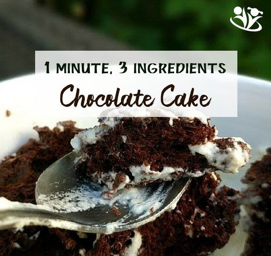 Food Science for Kids: 3-ingredients, 1-minute Chocolate Cake