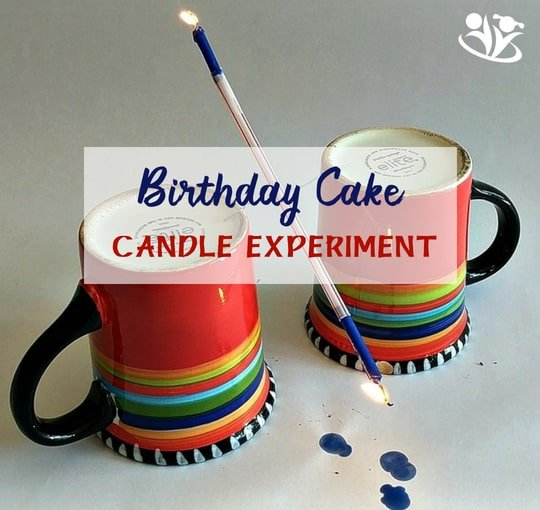 #Birthday Cake Candle #Experiment = fun #science with fire! Use the #candles from the birthday #cake to impress your kids and teach #physics at the same time.