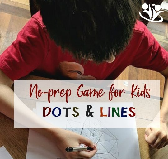 No-prep game for kids: Dots and Lines