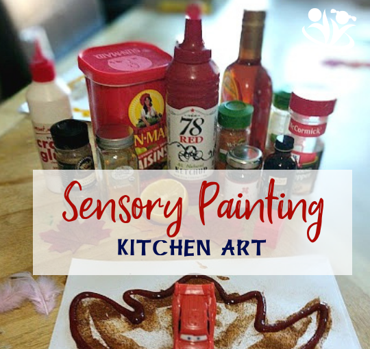 Sensory painting: from turmeric to cocoa, from jam to ketchup, your new art supplies will help you create interesting textures and lots of experimentation. #art4kids