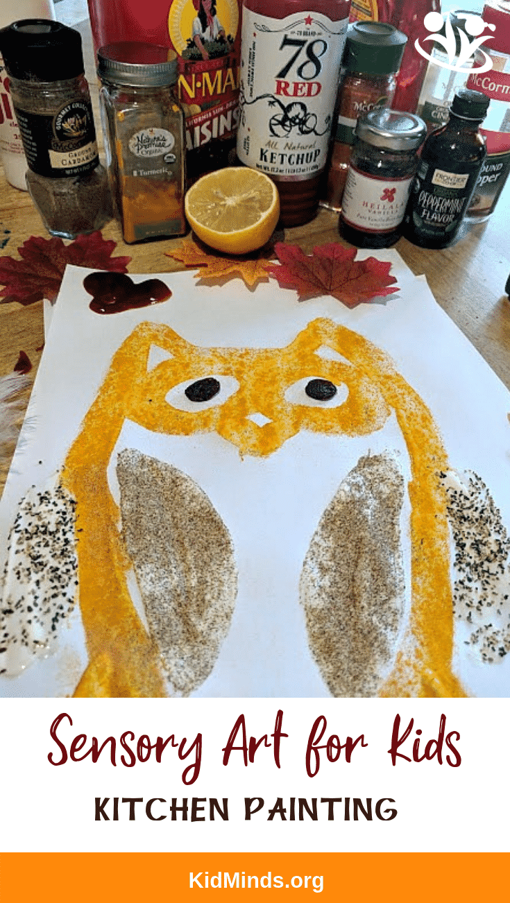 Sensory painting: from turmeric to cocoa, from jam to #ketchup, your new art supplies will help you create interesting textures and lots of experimentation. #sensory4kids