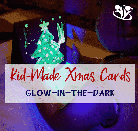 Handmade Christmas Card: Glow in the dark tree