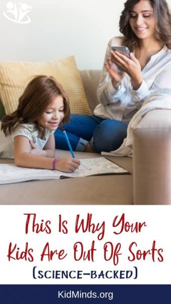 Yourkids are out of sorts and you don't understand why? Look at what science has to say about the real reason so many kids are out of sorts today. #parenting #kids #momsandsmartphones #family