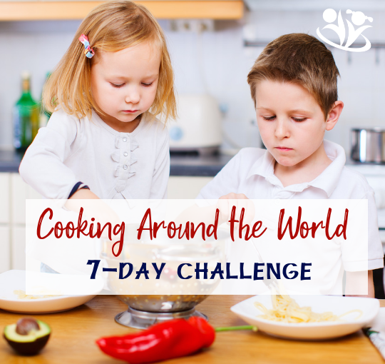 Cooking Around the World with Kidsis an enjoyable activity for winter break or any time of the year. It's a great way to bond, connect, learn, and have fun with your kids! #cookingchallenge #eatingtheworld #juniorchefs #familycooking #cookingwithkids #creativelearning #makingmemories