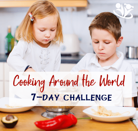 Cooking Around the World with Kids is an enjoyable activity for winter break or any time of the year. It's a great way to bond, connect, learn, and have fun with your kids!  #cookingchallenge #eatingtheworld #juniorchefs #familycooking #cookingwithkids #creativelearning #makingmemories