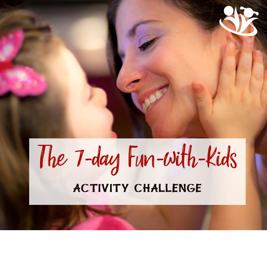 This seven-day activity challenge for busy families is designed to inspire parents to spend 10-15 minutes each day doing fun activities with their children. #funwithkids #activitychallenge #formoms #kidsactivities #familymatters