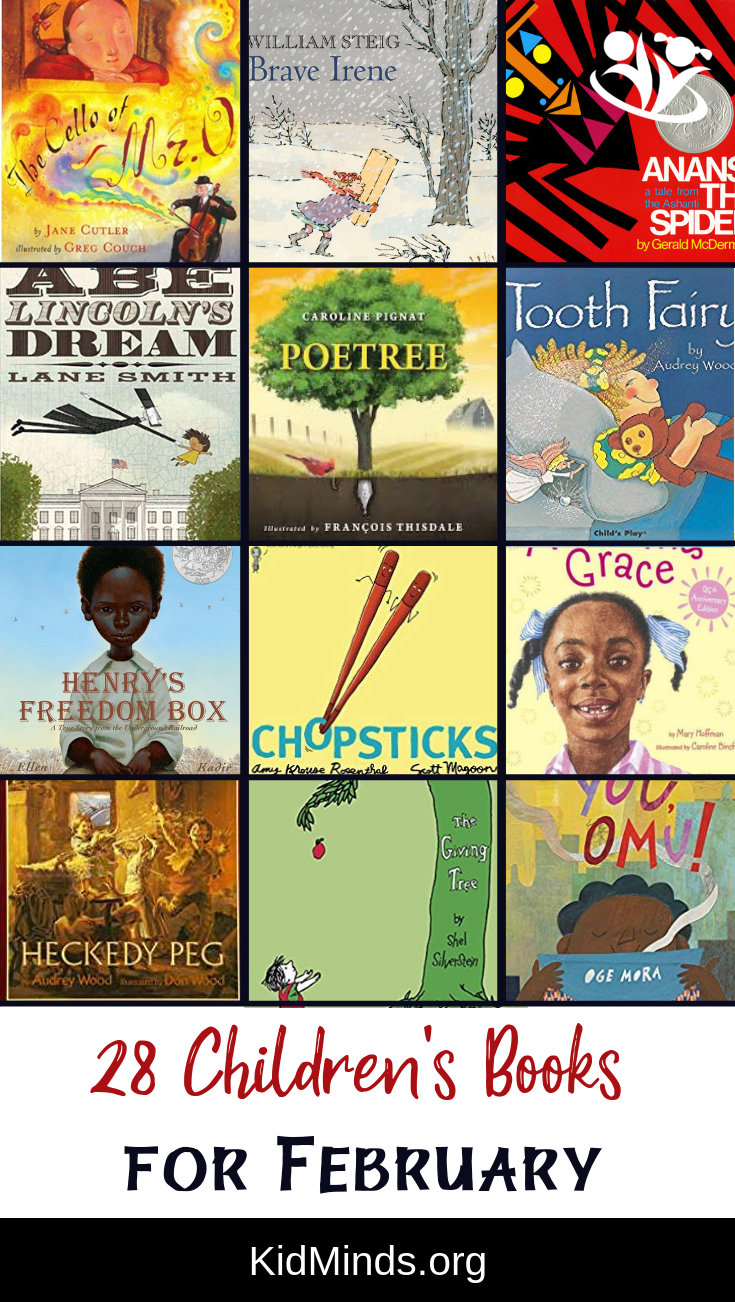 Children's book suggestion for every day in February. Books on a wide variety of topics, with unforgettable stories, imaginative plots, and creative illustrations.  #januarybook #kidbooks #childrensbooks #bookworm #alwaysreading  #bestofpicturebooks #celebratebooks