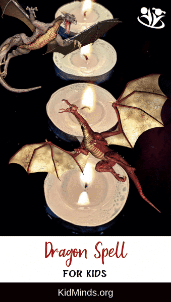 Making a dragon spell with your children is a silly and unique way to have family fun. Bibbiti-bobbiti-boo! As we wish it will come true! #dragonday #dragons #familyfun #magicspells #makingmemories
