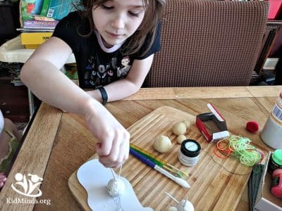 DIY stars that glow in the dark are fun and easy to make. All you need is playdough, toothpicks, and glow-in-the-dark paints.  #spacecraft #learningthroughplay #stars