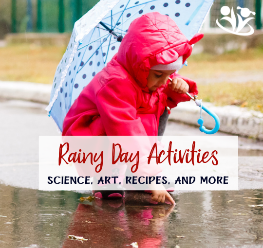 A ridiculously long list of fun rainy day activities from your favorite bloggers: science experiments, crafts, art projects, recipes, energy busters, indoor learning ideas, and more. #rainyday #indooractivities #outdooractivities #kidactivities #formoms #handsonlearning #artsandcrafts #recipesforkids #learning #kids #creativekids #boredombusters #rainydayfun #kidminds