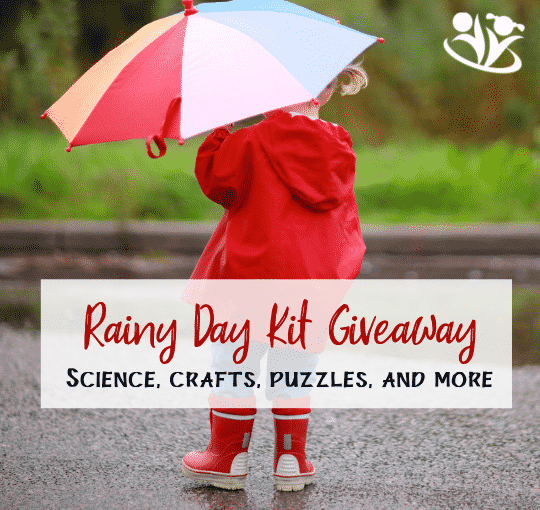 Rainy Day Kit Giveaway. Activities for kids 3-12. Science activities (i.e., dinosaur egg excavation), crafts (i.e., DIY birdhouse kit), fidget spinner, zoo activity book, giant dice, airplanes and gliders, bouncy ball, color scratch dinosaur bookmarks, bean bags, and more!!!  #rainyday #kidminds #learning #kidsactivities #boredombusters #handsonlearning #laughingkidslearn #sciencefun #formoms