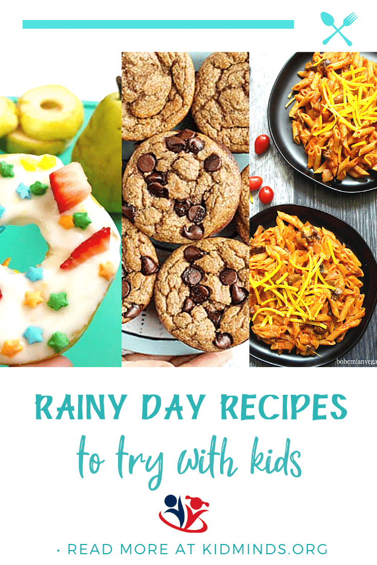 Ridiculously fun rainy day activities from your favorite bloggers: science activities, energy busters, craft ideas, and more.  #rain #handsonlearning #creativekids #learning #kidminds #rainydayrecipes #rainyday #littlechiefs #kidscancook