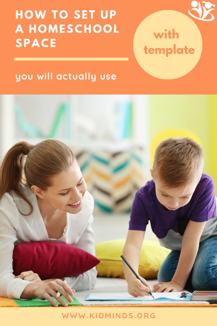 Get a free printable template of the most important questions to ponder when setting up a homeschool space, plus kid organizers, and a peek into our homeschooling setup. #homeschooling #homeschoolspace #enjoytheprocess #homeschoolers #bigcitylife #homeschoolroom #homeschoolcommunity #homeschoolife #hereisourhomeschool #homestyle #schoolroom #homeschoolmom #learnfromhome #homeiswheretheheartis #ourfamilyrhythm