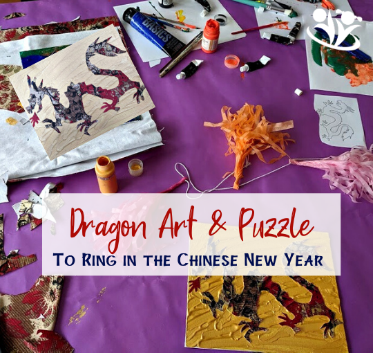 Chinese New Year: Multimedia Dragon Art & Puzzle