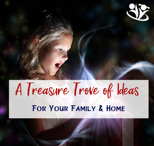 In a Treasure Trove of Ideas you will find a long list of inspirational blog posts for your family and home. Each post features 100 tips, tricks, books, hands-on projects, lessons, games, and ideas for your family and home. #ideasforfamily #familyfun #booklists #homeschoolingmom #homeschoolingideas #familyideas #booksgalore #somethingforeveryone #ideasformoms #momhacks #handsonlearning