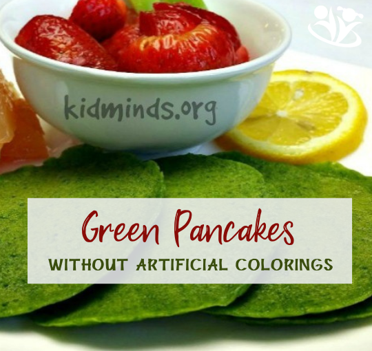 Green Pancakes without Artificial Colorings