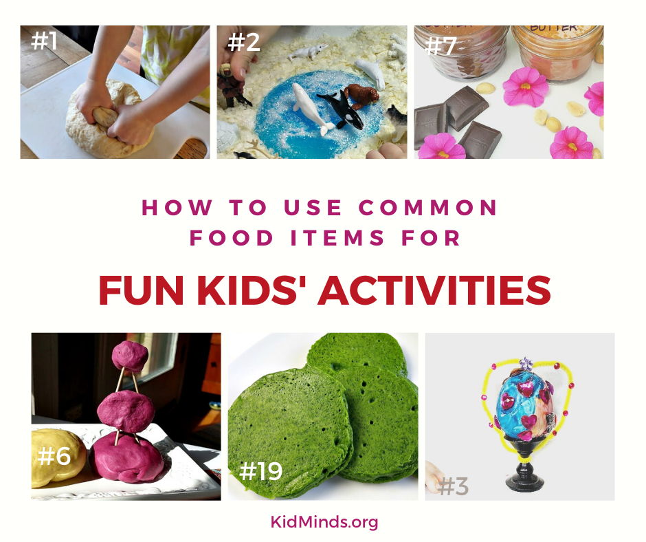 You won't believe how many amazingly fun and educational kids' activities you can set up using common household items! #funathomewithkids #earlylearning #handsonlearning #formoms #kitchenscience #STEAM #boredombusters