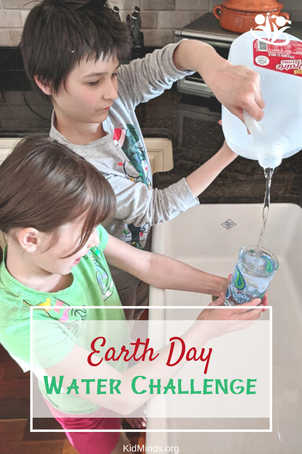 Fun Earth Day activities to inspire your kids and show them how they can help save the planet. Try our low-prep Earth Day Water Challenge to transform their thinking about water.   #EarthDay #handsonlearning #creativelearning #KidMinds #EarthDayActivities #waterchallenge #earlylearning #homeschollife