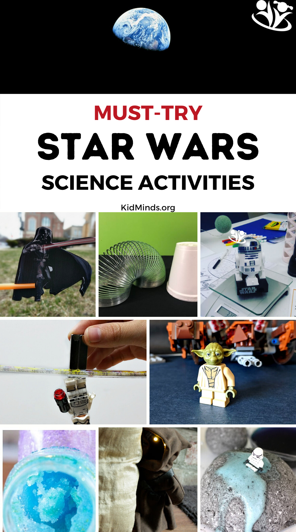 This is a collection of our favorite Star Wars activities. There's something for every little Jedi in the universe. #STARWARS #science #kidsactivities #kidminds #laughingkidslearn #LEGO #STEAM