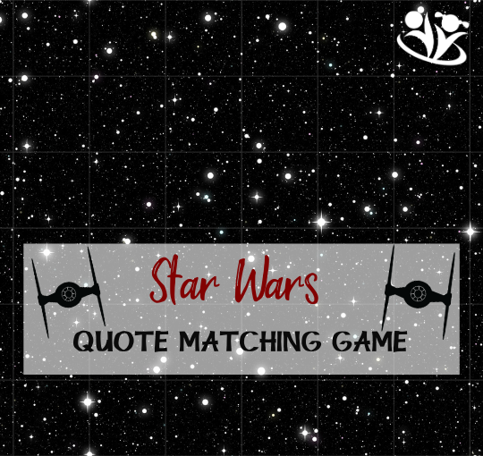 Star Wars Quote Matching Game #printables #STARWARS #boredombusters #kidsactivities