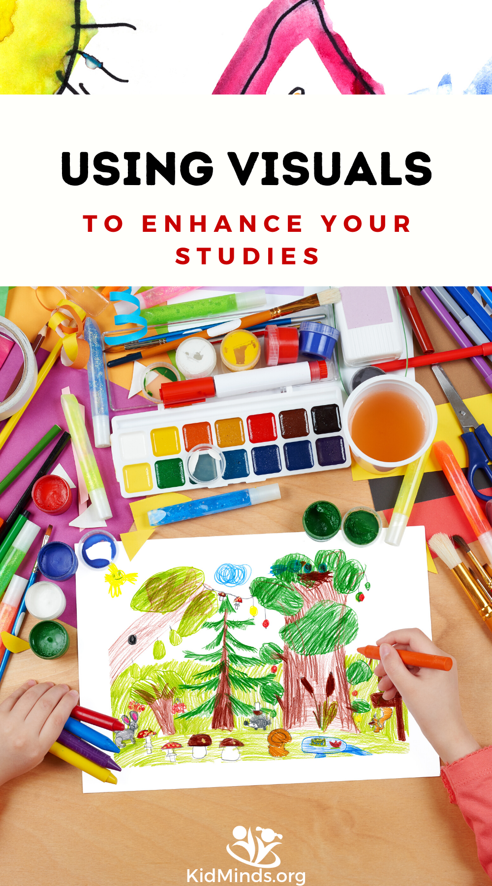 Practical tips for integrating visuals with your kids to help them better engage with the material and absorb more information. #handsonlearning #kidsactivities #howkidslearn