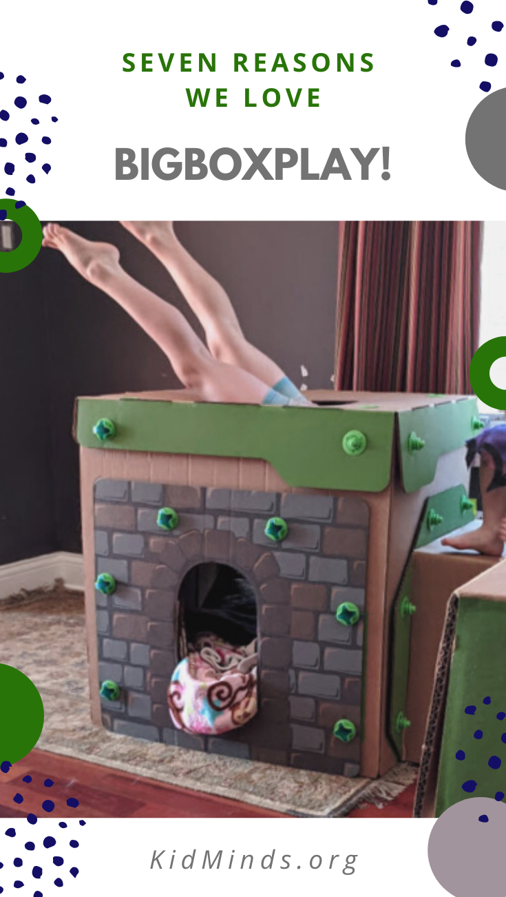 If you are looking to promote a creative, screen-free, unstructured type of child-directed play this summer, this review of BigBoxPlay might help. #kidsactivities #boxplay #STEM  #laughingkidslearn
