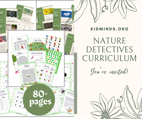 Nature detectives curriculum #thematicunit #digitalpack #outdoorinspiredlearning #nature #handsonlearning