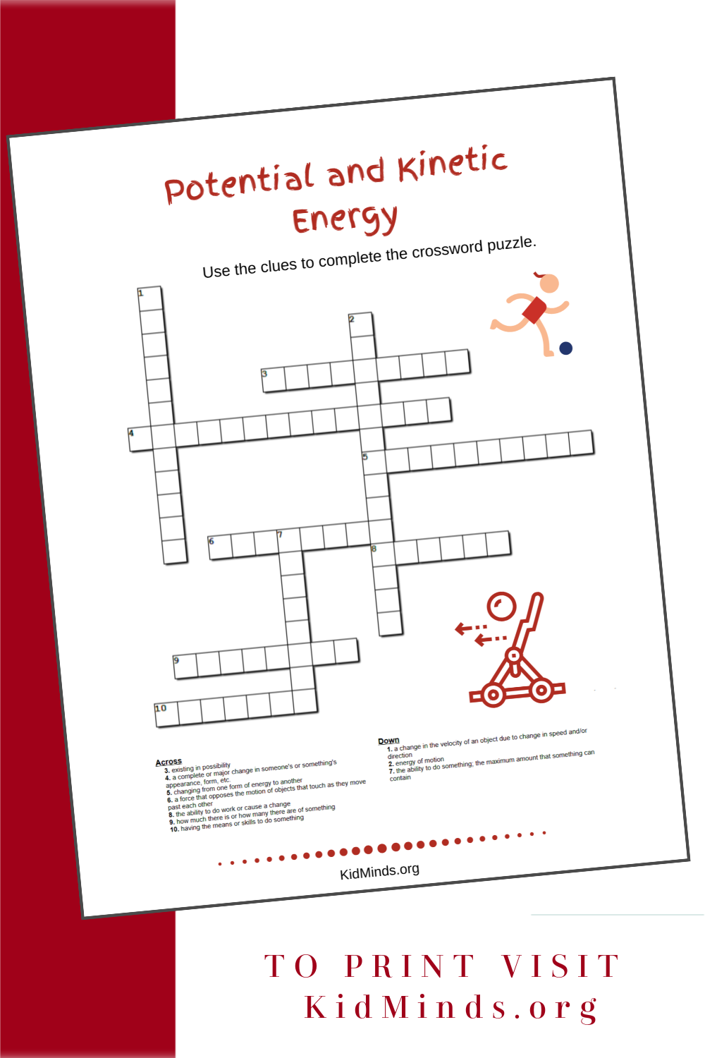 Are you learning about types of energy with your kids? This word search is fun and educational. #printables #scienceforkids #kidminds #handsonlearning #STEAM