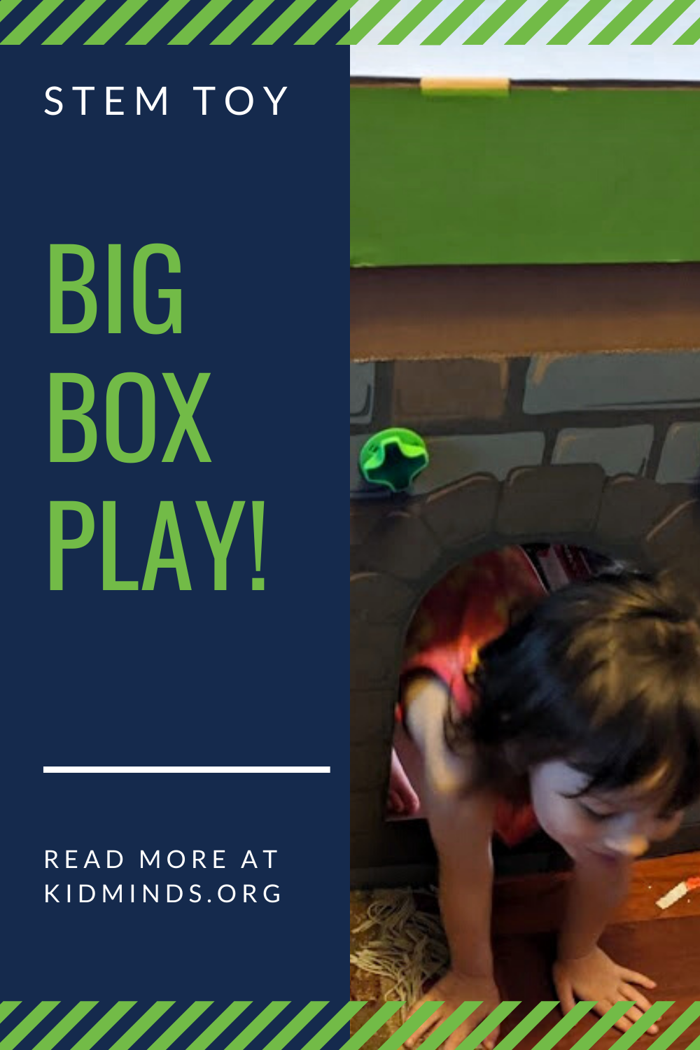 If you are looking to promote a creative, screen-free, unstructured type of child-directed play this summer, this review of BigBoxPlay might help. #kidsactivities #boxplay #STEM #laughingkidslearn #screenfreeplay