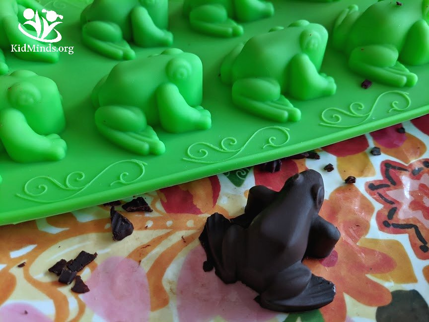 Homemade chocolate frogs that are simple, healthy, and delicious. This is one magical treat you won't mind indulging in with your little Harry Potter fans. #handsonlearning #science #kidsactivities #HarryPotter #chocolatefrogs