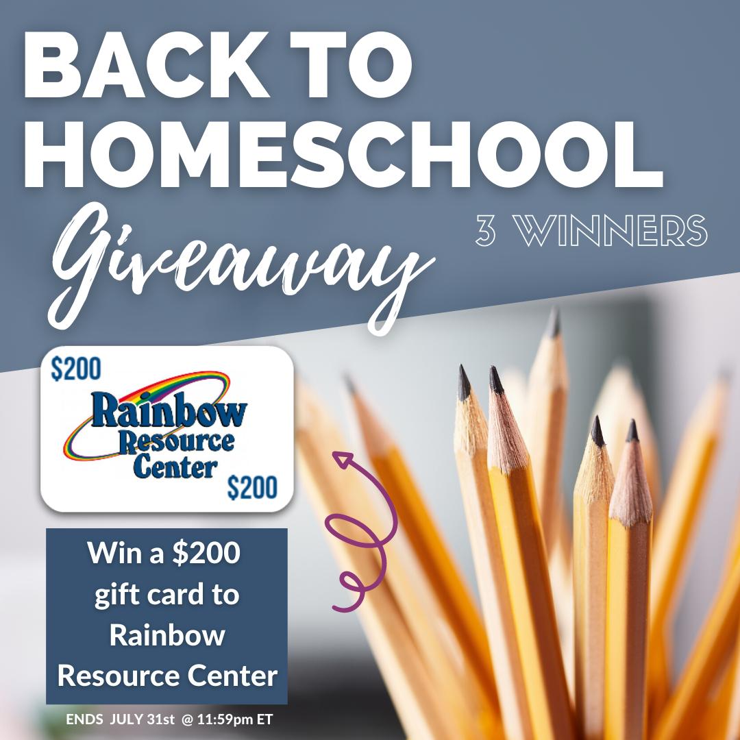 Back to Homeschool Giveaway #homeschooling #giveaway