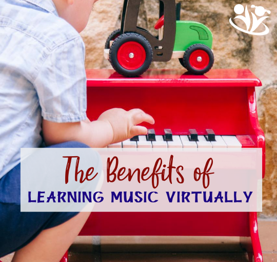 There are many benefits to learning music virtually! #music #kidslearnmusic #kidsmusicalinstruments #kidscreativity #kidsmusic