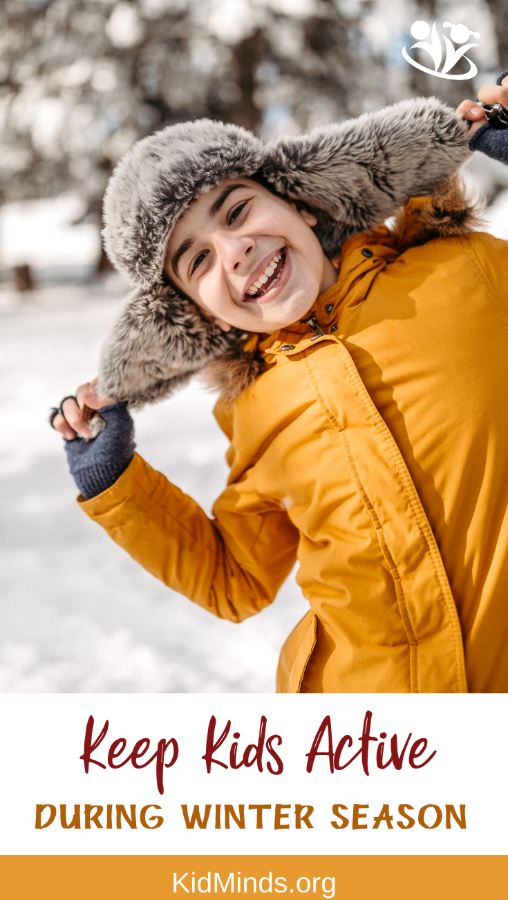 Don't keep kids cooped up during winter, give them some quality outdoor playtime  (and give yourself a break too). Here are some fantastic ideas to keep kids active during cold time of the year.  #kidsactivities #handsonlearning #winter #outdoorlearningideas #outdoorplay