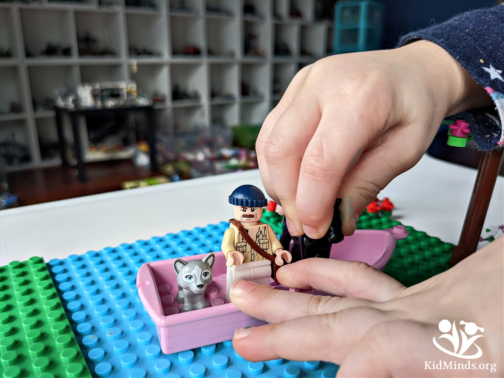 This Johnny Appleseed Challenge combines kids' favorite things (hands-on activities, LEGO, and brainteasers), and it's a great way to make Johnny Appleseed Day fun. #handsonactivities #kidsactivities #kidminds #JohnnyAppleseed #spring  #brainteasers #LEGO