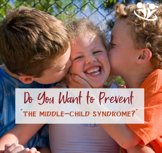 """Do you want to prevent """"the middle child syndrome"""" in your family? Get a FREE printable list with the most powerful ways to connect to your middle child. #parenting #formoms"""