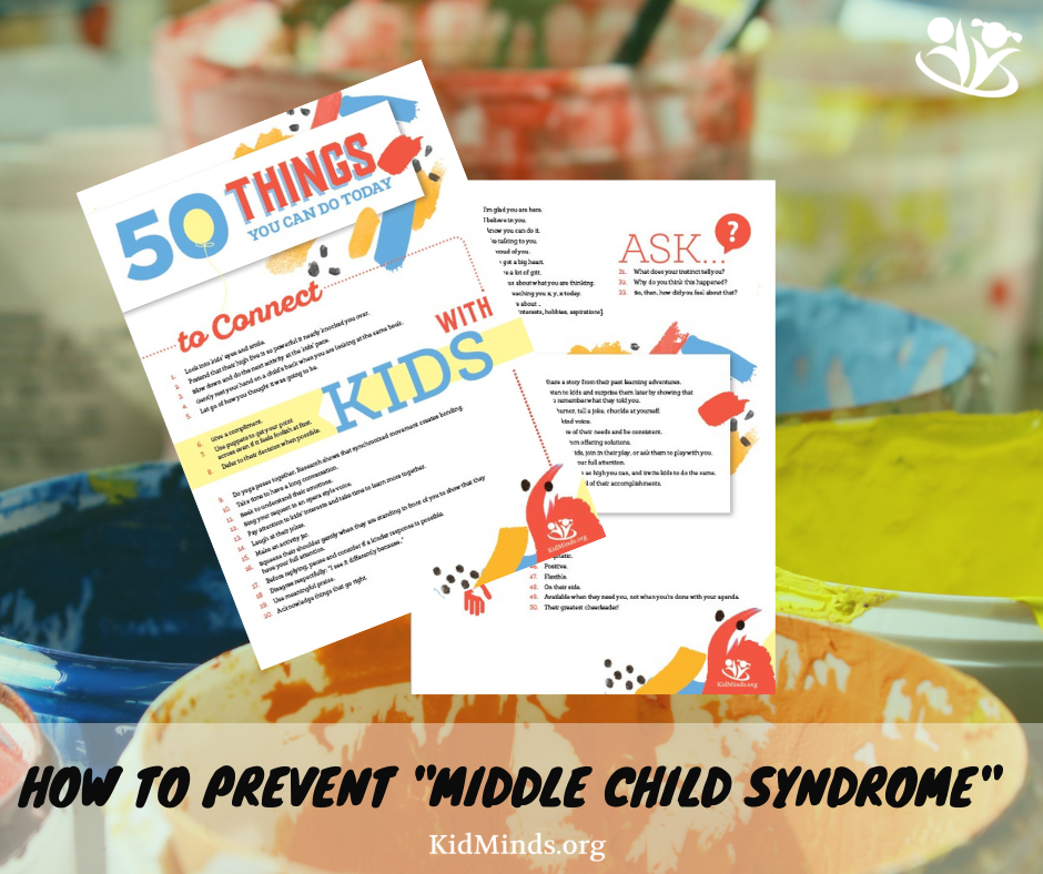 """If you worry about """"the middle child syndrome"""" in your family, this article is for you.  #parenting #formoms #middlechild #positiveparenting"""