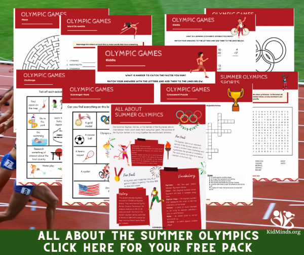 As you're getting ready for the Olympics, remember to print out this 20-page Olympic Games printable to help your kids stay busy while also helping them learn. #Olympics #summerOlympics #kidsactivities #formoms