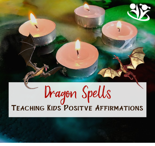 Practicing affirmations is such a magical way to engage the power of positive thinking. Making them together with your kids and calling them dragon spells is a sure way to have fun and make them stick. #kidsactivities #kidminds