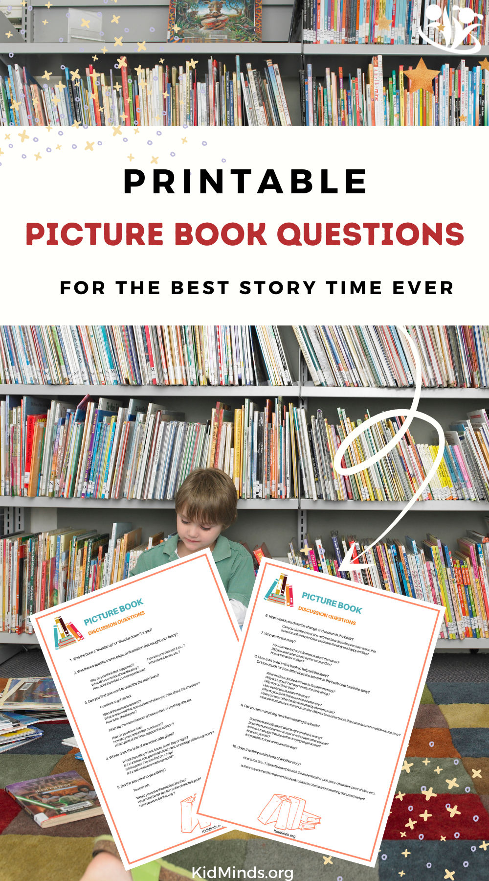 Your guide to asking the kinds of questions that will inspire your kids to think deeper and develop critical thinking skills. #raisingreaders #storytime #picturebooks #discussionquestions
